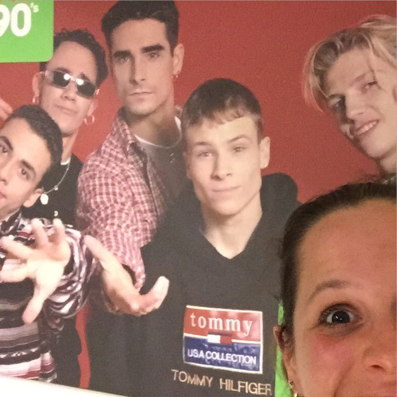 Ook waren de Backstreet Boys' er en wilde ze heel graag met mij op de foto ;-)