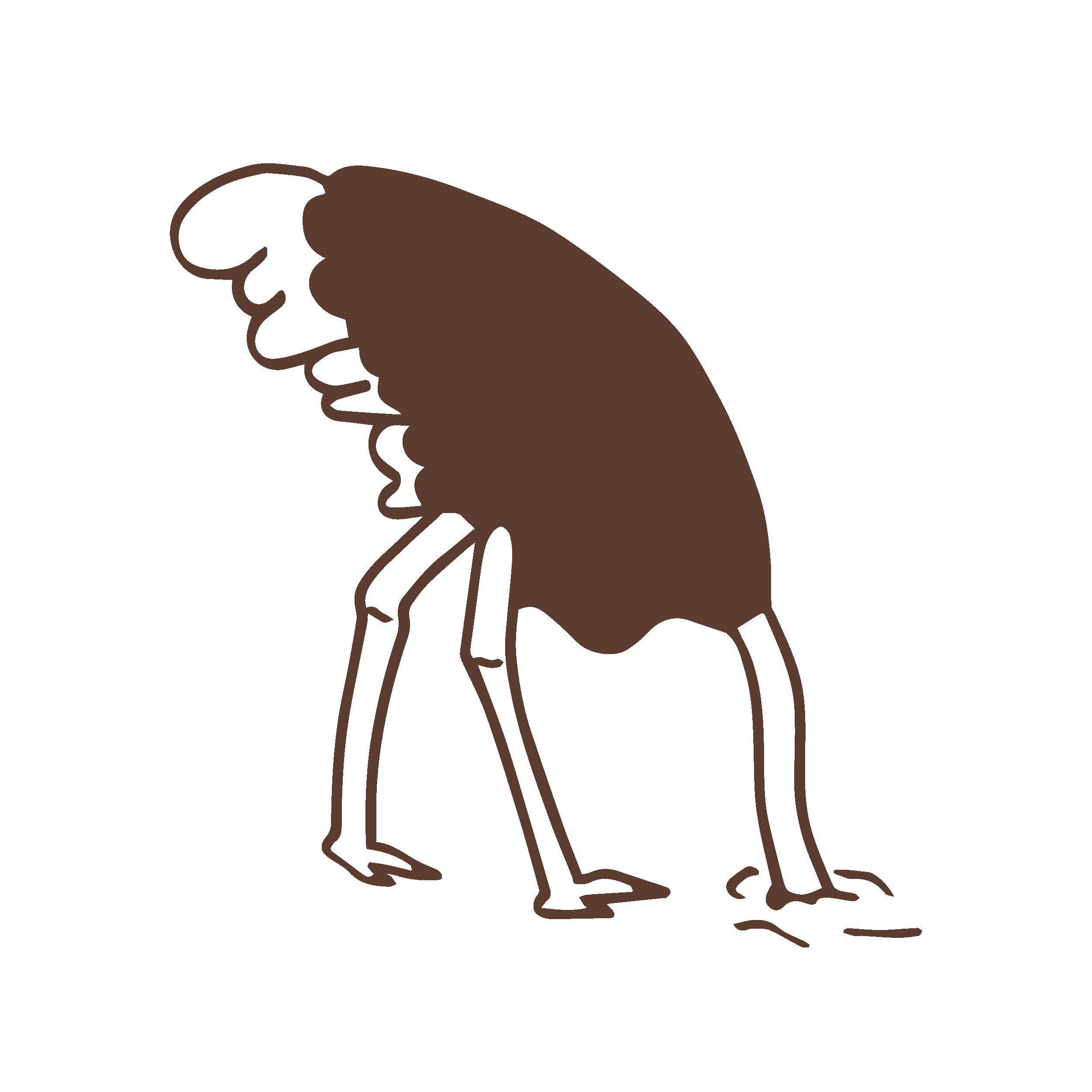 Ego-type de Struisvogel Illustratie Ontwerpstudio Karel & Linda
